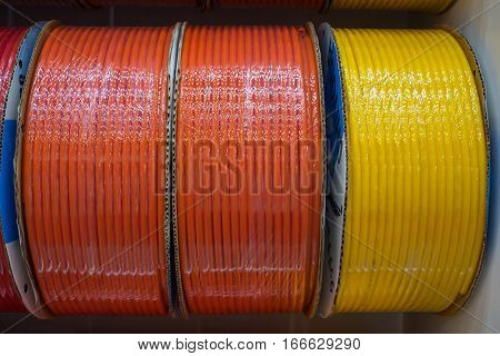 an electrical wire in coils ready for sale