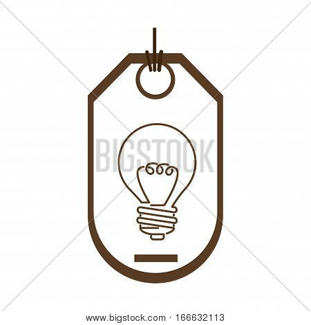 silhouette price tag of light bulb with resistance vector illustration
