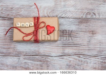 Gift For Valentines Day Or Wedding Packed In Kraft Paper