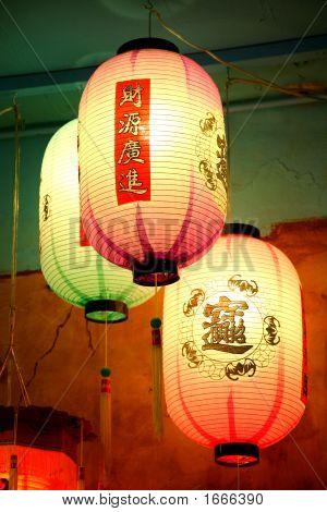 3 Asian Lanterns