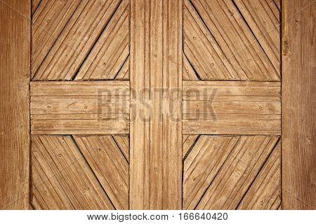 detail on old romanian wooden door handmade ancient wood texture