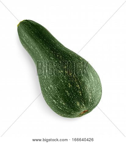 Zucchini squash isolated on white background. Sort of courgette cucurbit