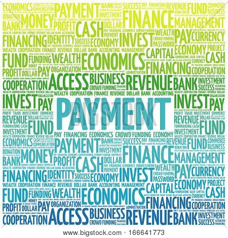 PAYMENT word cloud , business concept background