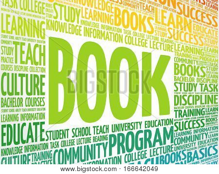 BOOK word cloud , education concept background