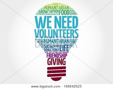 We Need Volunteers Bulb Word Cloud