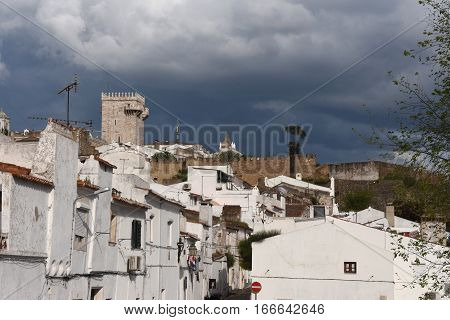 Village and Tower (Tres Coroas) Three Crowns Estremoz Alentejo region Portugal