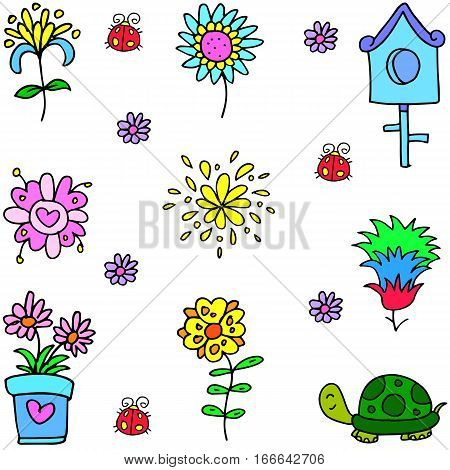 Vector art of object spring collection stock