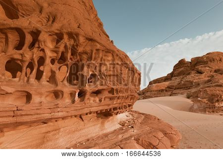 Mountain in arid Sinai desert Egypt Africa