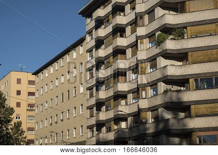 Milan (Lombardy Italy): residential and office buildings near Citylife (Tre Torri)
