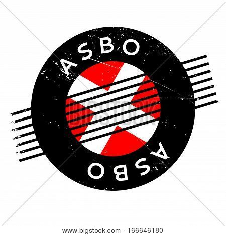 ASBO Anti-Social Behavior Order rubber stamp. Grunge design with dust scratches. Effects can be easily removed for a clean, crisp look. Color is easily changed.
