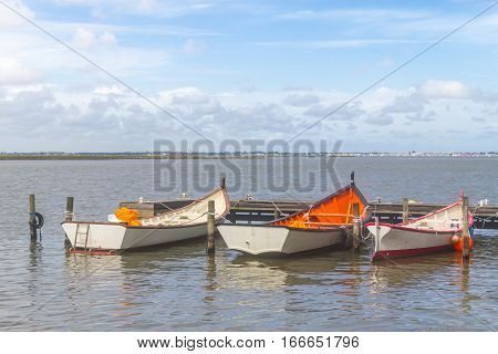 Boats Anchored In Lagoa Do Patos Lake