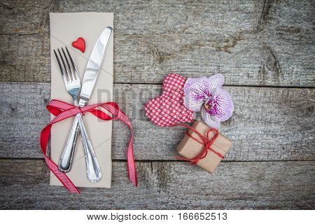 Festive Dinner And Declaration Of Love On Valentine's Day