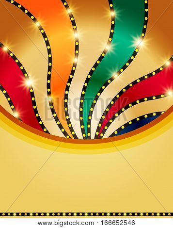 Abstract Retro Colorful Shining Background