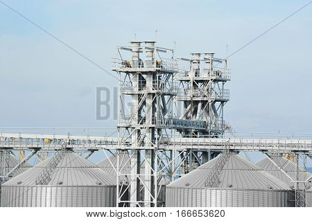 Industrial air conditioning and ventilation systems on grain dryer