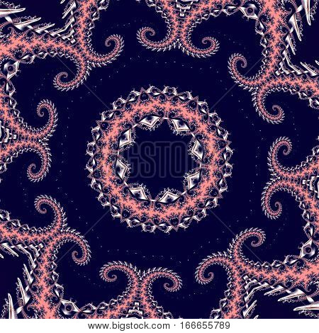 Fabulous fractal background with circle ornament. You can use it for invitations notebook covers phone case postcards cards ceramics carpets and so on. Artwork for creative design and art.