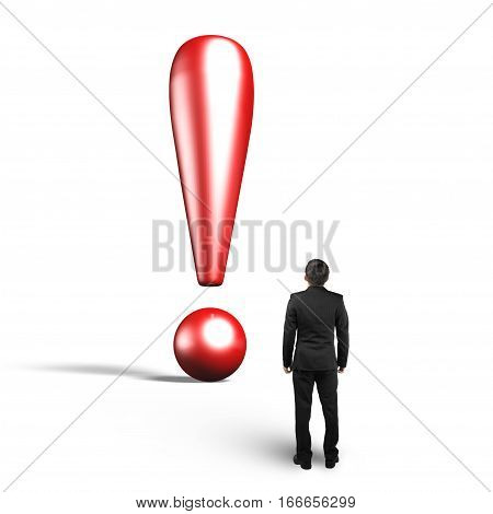 Exclamation Point With Man Looking Up