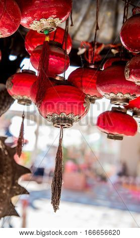 Chinese New Year at Chinese Temple, pray decoration