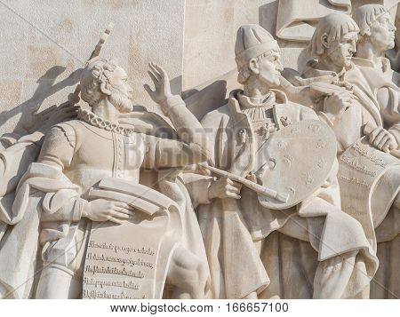 Monument to the Discoveries of the New World in Belem Lisbon Portugal.