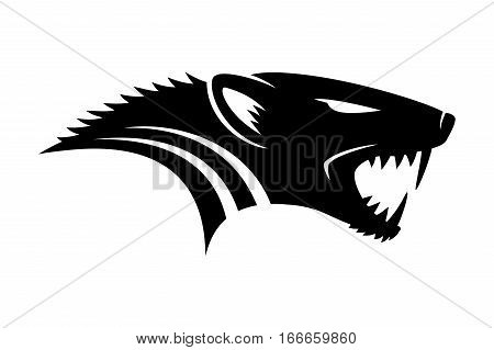 Mongoose black sign on a white background.