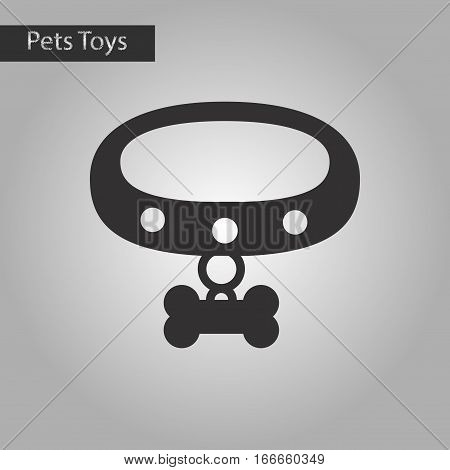 black and white style icon of dog collar