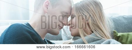 Man Going To Kiss Wife