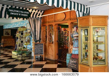 MACKINAC ISLAND, MI - JULY, 2016: Carlton's Tea Room inside the famous Grand Hotel.