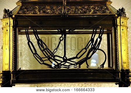 Chains Of Saint Peter In San Pietro In Vincoli Church