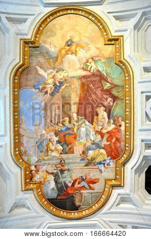 Fresco In San Pietro In Vincoli Church. Rome, Italy