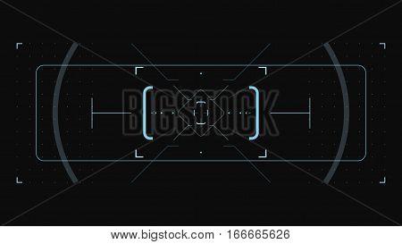 Element user interface. HUD. hi-tech main. UI elements. Target interface