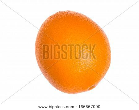 Ripe, fresh orange isolated on white background. Perfectly retouched with clear details. Full depth of field. Fruit photographed in Studio on white background