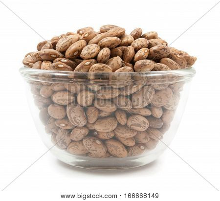 Pinto Beans On Glass Cup Isolated
