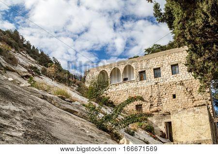 The Cave of Elijah Mount Carmel in Haifa Israel