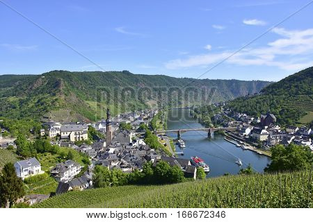 View of the city of Cochem Germany and the Mosel River
