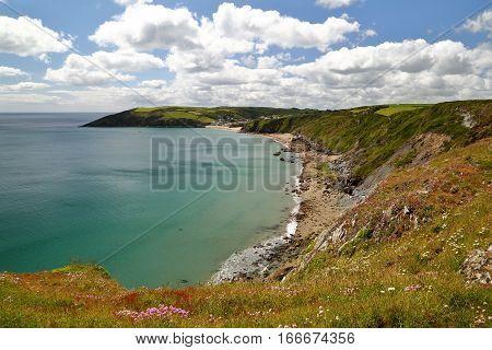 MEVAGISSEY, CORNWALL, UK: Wild coast near Mevagissey