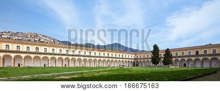 Italy Cilento Padula the Certosa of San Lorenzo the great cloister