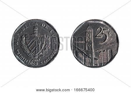 Twenty-five Cents Cuban Coin