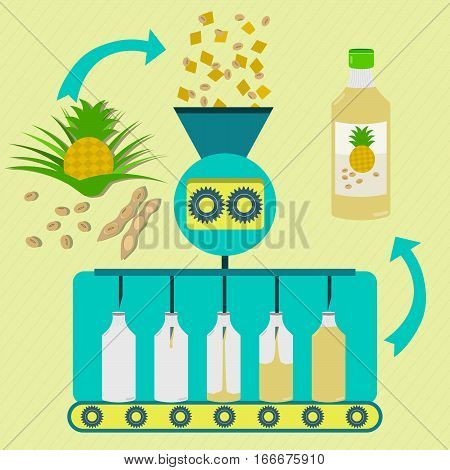 Pineapple Fruit And Soy Juice Fabrication Process
