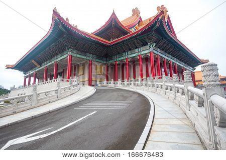 Chiang Kai shek memory hall in Taipei city Taiwan