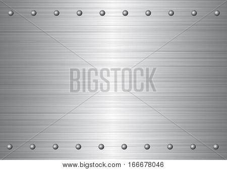 Matte iron plate with rivets . Background.