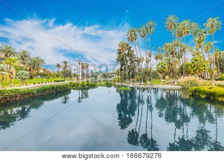 famous Echo park in Los Angeles California