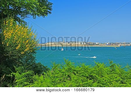 View on Saint-Malo from Dinard Brittany France