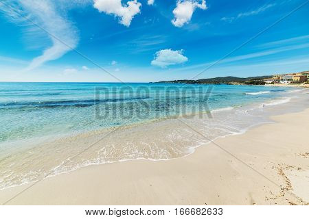 white sand in Le Bombarde beach Sardinia