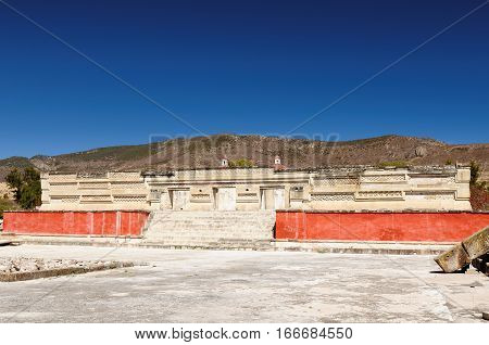 Mayan city ruins in Mitla near Oaxaca city. The most important of the Zapotec religious centers