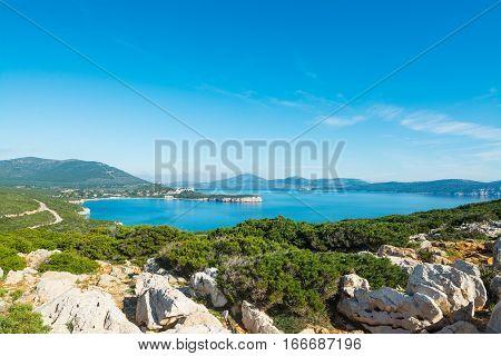 Capo Caccia bay in Sardinia in Italy