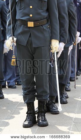 Officers Of The Financial Italian Police Called Guardia Di Finan