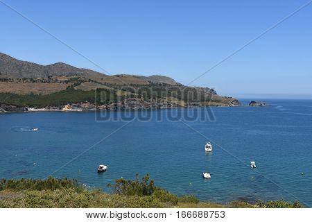 View of Colera island Costra Brava Girona Spain