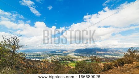 San Fernando Valley seen from Mount Lee California