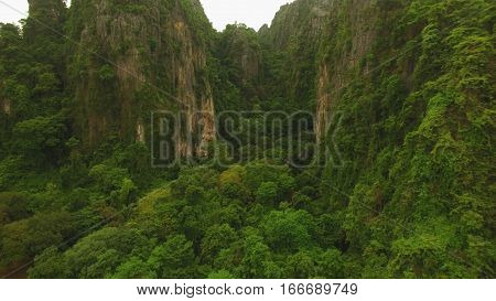 Limestone mountain at Noen Maprang in Thailand