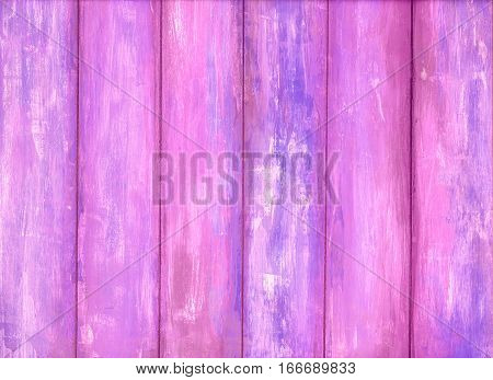 Pink old peeling paint wooden background texture