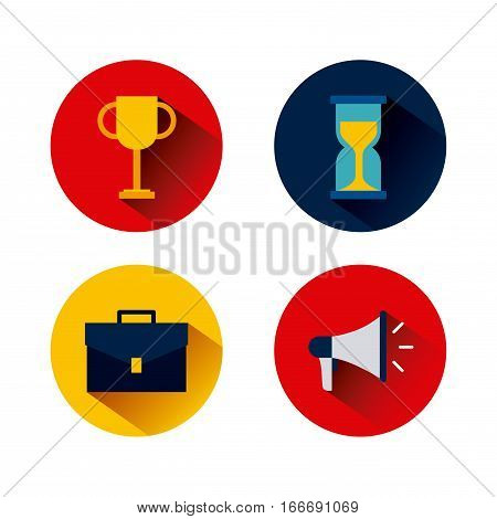 icons of business and start up concept. colorful design. vector illustration
